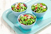Broad bean salad with radishes and chilli
