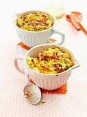 Macaroni and ham bake