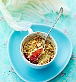 Berry crumble with almonds