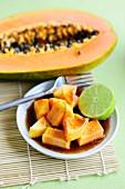 Marinated Papaya