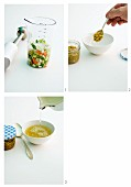 Suppe mit Aroma-Paste herstellen