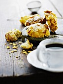 Italian biscuits with mascarpone and cornflakes