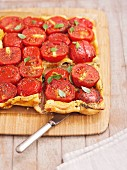 Tarte tatin with tomatoes