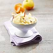 Amaranth muesli with banana and apple