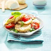 Igelstachelbart mit Kirschtomaten und Parmesan
