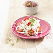 Turnip spaghetti salad
