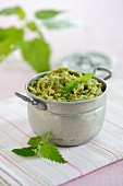 Stinging nettle and chickpea cream