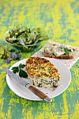 Cheese with spring herbs