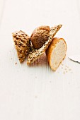 Sunflower seed bread, seeded bread, crispbread and white bread