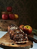 Wholemeal bread with apples and sunflower seeds