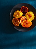 Bowl of squeezed citrus fruits