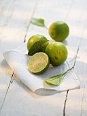 Limes on a cloth
