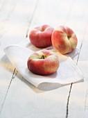 Vineyard peaches on a cloth