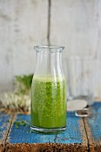 A winter smoothie made with green kale