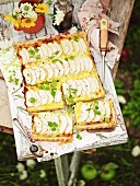 Apple and Brie tart