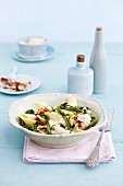 Pasta with ricotta and wild herbs