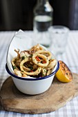 Calamari with grilled lemon