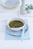A bowl of herb vinaigrette