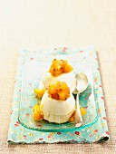 Iced buttermilk pudding with spiced pineapple