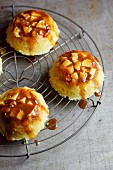 Steamed apple and salted caramel puddings