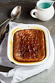 Malva pudding with Amarula syrup (South African)