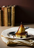 Pear trifle with a Muscadet sauce