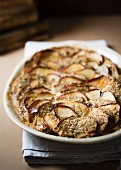 Warm apple bake with almonds