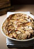 Warmer Apfelauflauf mit Mandeln