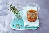 Pepper vinaigrette with thyme