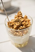 Yogurt muesli with banana