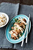 Stir-fried pork with bamboo shoots