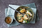 Stir-fried fish with ginger sauce