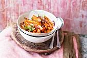 A stir-fried carrot medley