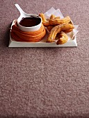 Churros with chocolate and sherry sauce (Spain)