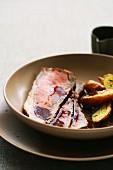 Roastbeef mit Rotweinsauce und Ofenkartoffel