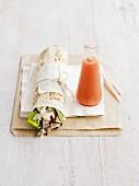 A Caesar salad wrap