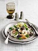Seafood salad with olives (Italy)