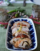 Stuffed chicken roulade for Mother's Day
