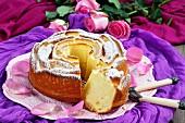 A festive rose cake