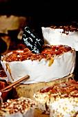 Salted caramel nougat at a market