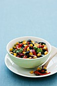 Black bean salsa with sweetcorn and pepper