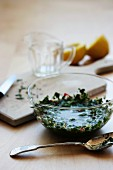 Chermoula sauce in a glass bowl