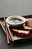 Grilled pork with plum sauce (China)