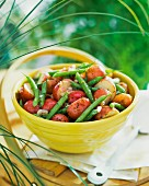 Red potato salad with green beans