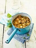 Vegetarian lentil and tofu stew