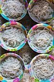 Kanom Jeen (fermented rice noodles, Thailand)