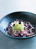 Marinated tuna with a fennel salad