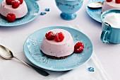 Raspberry yoghurt cakes
