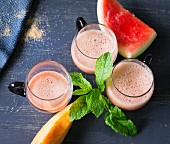 Miss Saigon: a smoothie made with melon, ginger, lime and mint