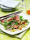 Sweet chilli beef salad
